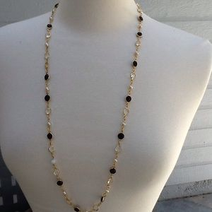 Jewelry - SWAROVSKI BLACK CRYSTAL AND FAUX PEARL VINTAGE